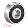 Deep Groove Ball Bearing 628RS Double Sealed, 8 x 24 x 8mm Chrome Steel Bearings, 10Pcs