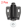 Magnetic Touch Catch Latch Closures Nylon Black for Cabinet Door Shutter 2Pcs