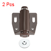 Magnetic Touch Catch Latch Closures Nylon Brown for Cabinet Door Shutter 2Pcs