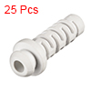 25pcs 4mm Inner Dia PVC Strain Relief Cord Boot Protector Power Tool Hose White