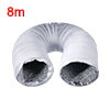 5 Inch Aluminum Foil Duct Hose Grow Tent Room Ventilation System 26Ft Flexible Air Intake Helix Pipe HAVC