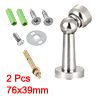 Stainless Steel Door Magnetic Catch Holder Stopper Doorstop Polished Finish Silver Tone 2pcs