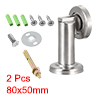 Stainless Steel Door Magnetic Catch Holder Stopper Doorstop Brushed Conceal Screw Floor Mount 2pcs