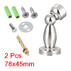 Home Office Stainless Steel Door Magnetic Catch Holder Stopper Doorstop Wall Mount 2pcs