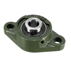 UCFL202 Flanged Pillow Block Bearing, 15mm Bore Diameter, Cast Iron/Chrome Steel, Set screw Lock