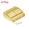 Toggle Latch, 31mm Retro Style Golden Decorative Hasp Jewelry Suitcase Box Catch w Screws 4 pcs