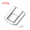Toggle Latch, 31mm Retro Style Silver Tone Decorative Hasp Jewelry Suitcase Box Catch w Screws 4 pcs