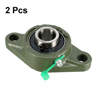 UCFL204 Flanged Pillow Block Bearing, 20mm Bore Diameter, Cast Iron/Chrome Steel, Set Screw Lock 2Pcs