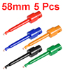 5Pcs 58mm Length Test Hook Clip Solderable for Multimeters PCB Tester Grabber Red Black White Green Yellow