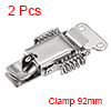 2pcs 201 Stainless Steel Spring Loaded Toggle Latch Catch Clamp 92mm