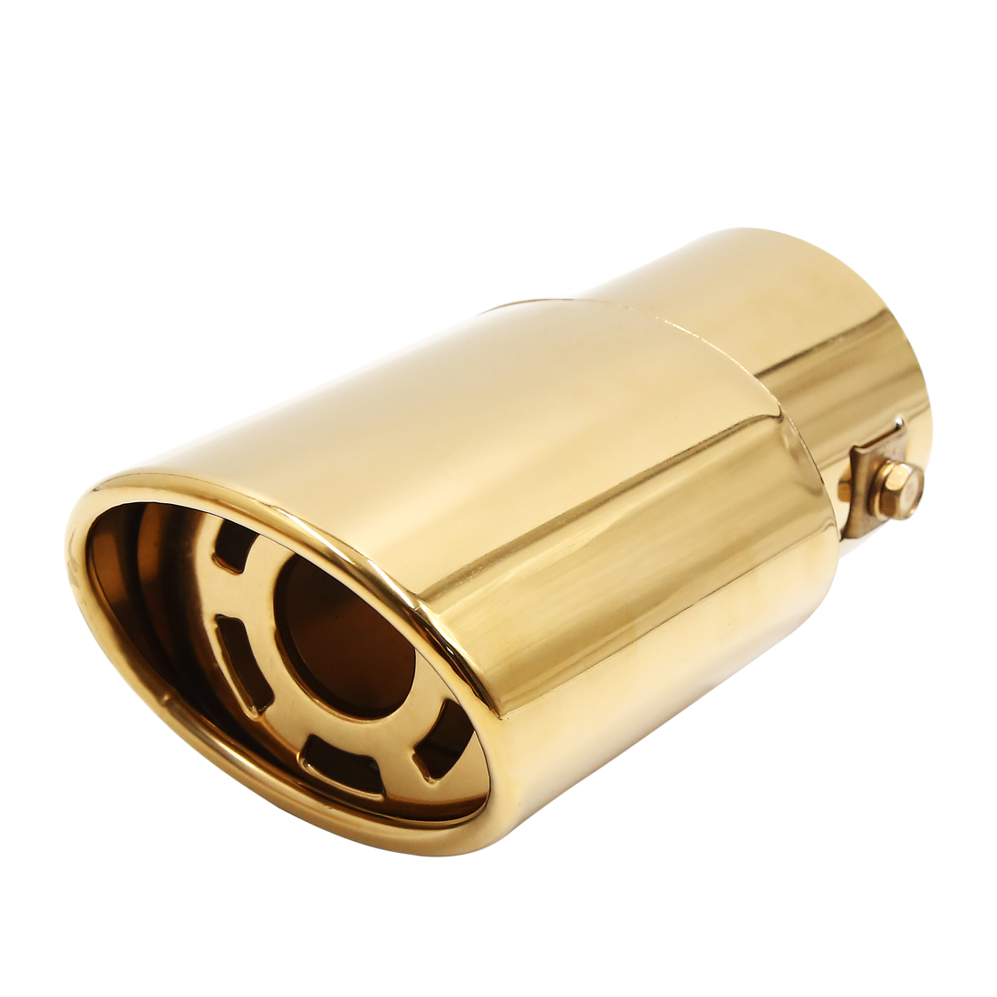Gold Tone Vehicle Automotive Grade Stainless Steel Exhaust Muffler Tail Pipe