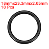 O-Rings Nitrile Rubber 18mm x 23.3mm x 2.65mm Seal Rings Sealing Gasket 10pcs