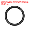 O-Rings Nitrile Rubber 20mm x 25.3mm x 2.65mm Seal Rings Sealing Gasket 10pcs