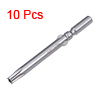 10 Pcs 60mm Long 5mm Dia Round Shank T25 Magnetic Torx Security Screwdriver Bits