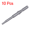 10 Pcs 60mm Long 5mm Dia Round Shank H2.5 Magnetic Hex Screwdriver Bits