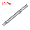 10 Pcs 60mm Long 5mm Dia Round Shank SP5 Magnetic U Shape Screwdriver Bits