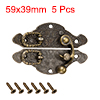 5 Sets Wood Case Chest Box Rectangle Clasp Closure Hasp Latches Bronze Tone 59 x 39mm