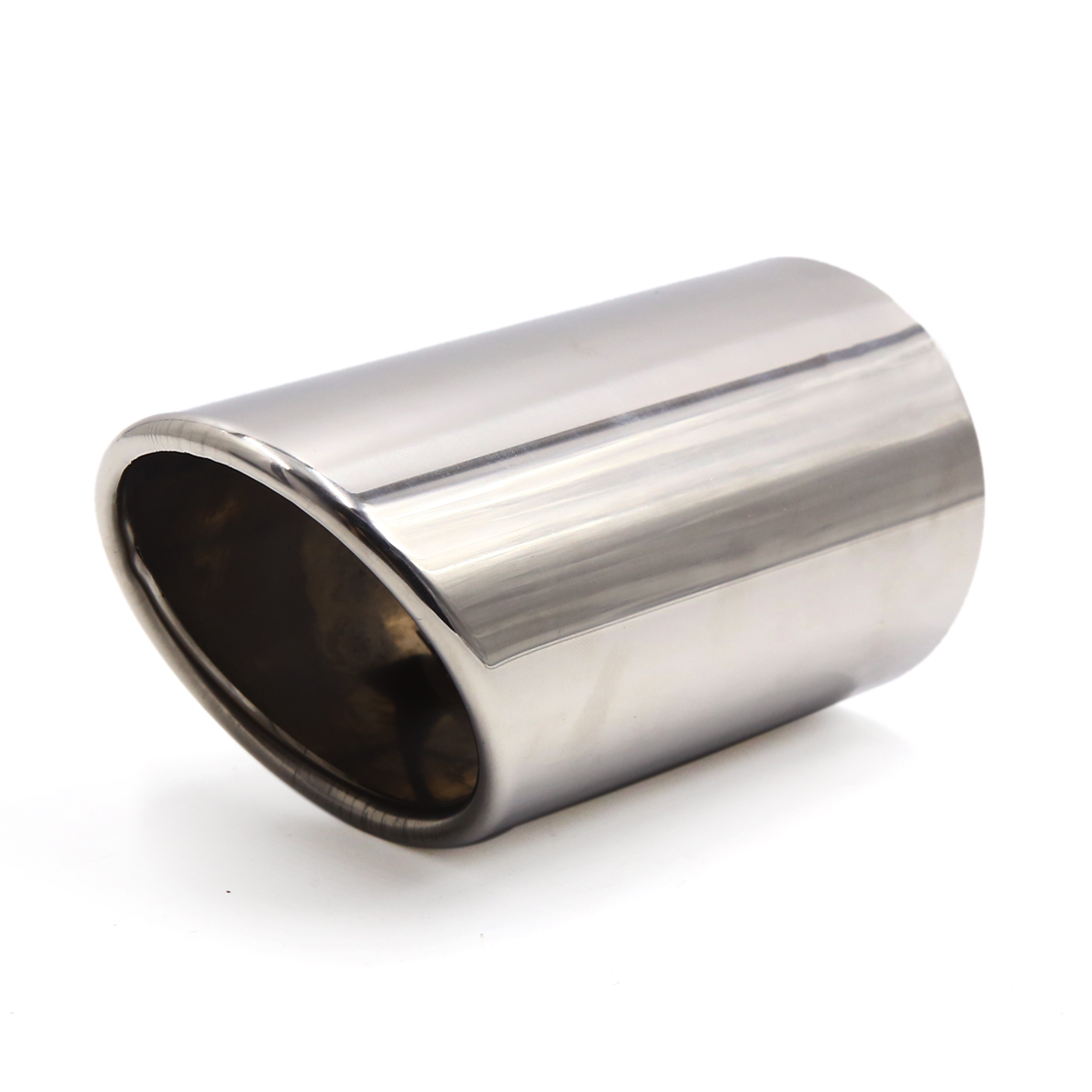 """73mm 2.87"""" Inlet Dia Stainless Steel Car Exhaust Tail Muffler Tip Pipe"""