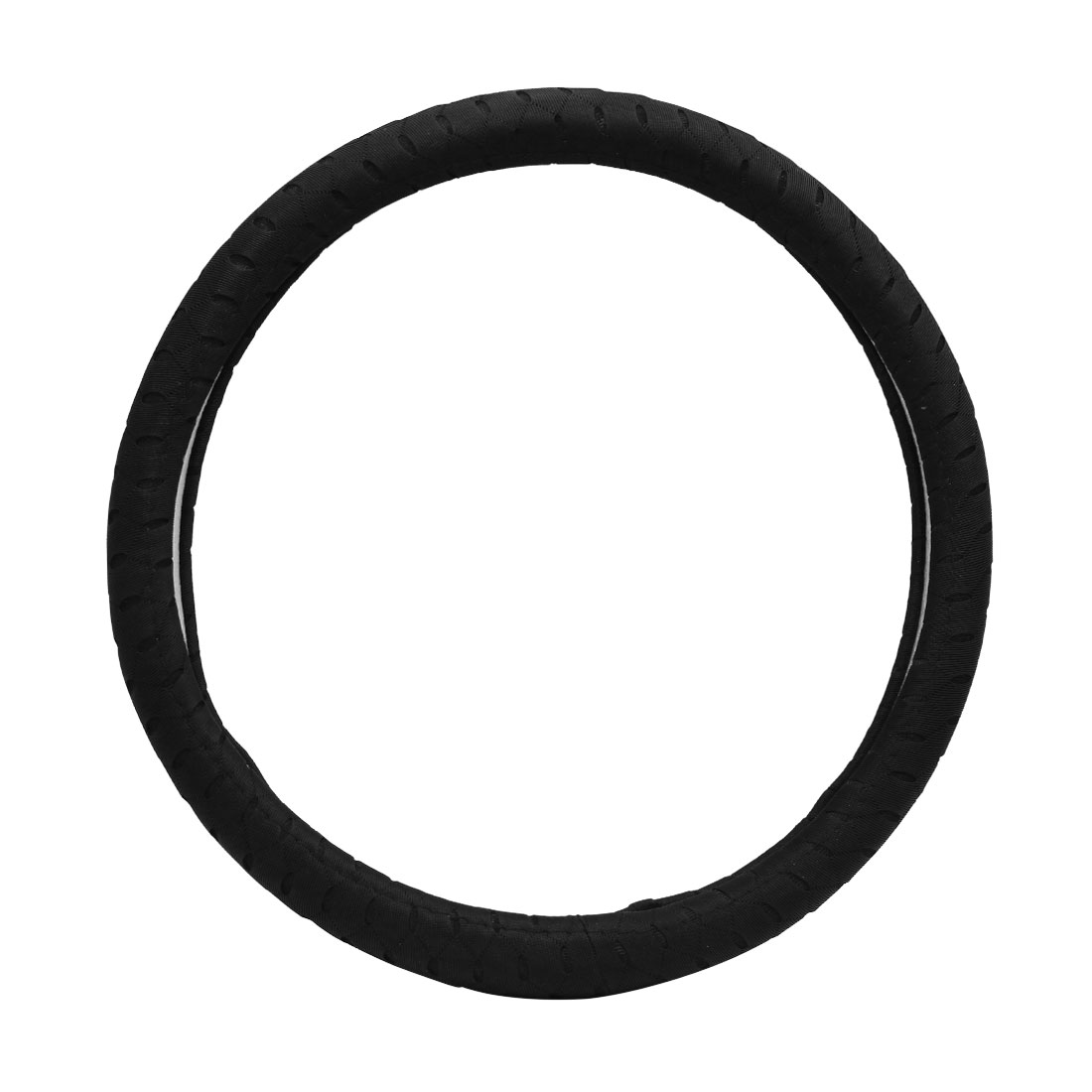 Black Comfortable Steering Wheel Cover Protector for Vehicle Car 39-40CM