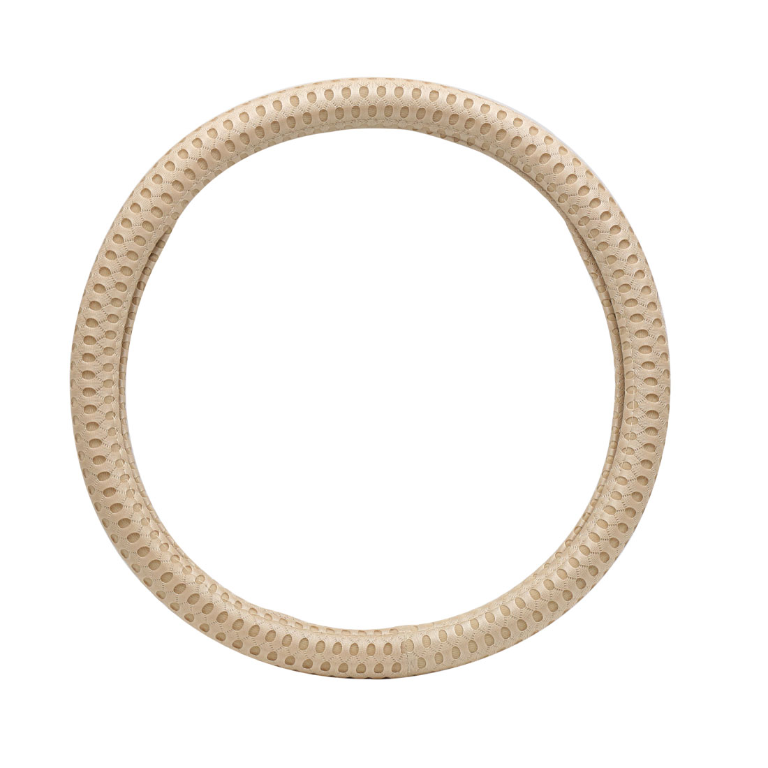 Beige Comfortable Car Steering Wheel Cover Protector for Vehicle Car 37-38CM
