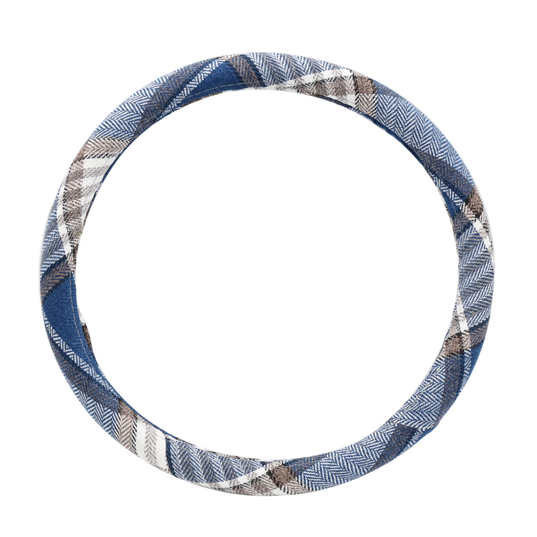 Blue Anti-skid Steering Wheel Cover Protector for Vehicle Car 39-40CM