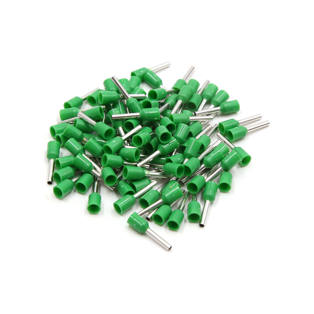 100pcs Green Insulated Copper AWG 16 Wire Crimp Connector Cord Pin End Terminal