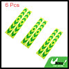 6pcs Yellow Green Car Reflective Self Adhesive Warning Tape Sticker Decal