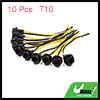 10 Pcs 2-Wire T10 Light Bulb Extension Socket Wire Harness Connector for Car Auto