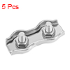 5 Pcs 304 Stainless Steel Duplex Wire Rope Clip Cable Clamp For 1.5mm-2mm Rope