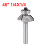 1/4-inch Shank 1/4-inch Cutting Length Ball Bearing 45 Degree Chamfer Router Bit