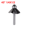 1/4-inch Shank 1/2-inch Cutting Length Ball Bearing 45 Degree Chamfer Router Bit