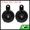 2pcs DC 12V 3A 105db Black Car Loud Horn Electric Siren Trumpet for Toyota