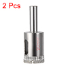 2 Pcs 20mm Diamond Grit Hole Saw Drill Bit for Glass Ceramics Ceramic Tile