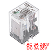 HH54P DC12V Coil DPDT 14Pins Green Light Electromagnetic Power Relay