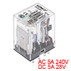 HH54P DC24V Coil DPDT 14Pins Green Light Electromagnetic Power Relay