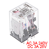 HH54P AC24V Coil DPDT 14Pins Red Light Electromagnetic Power Relay