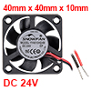SNOWFAN Authorized 40mm x 40mm x 10mm 24V Brushless DC Cooling Fan #0339