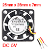 SNOWFAN Authorized 25mm x 25mm x 7mm 12V Brushless DC Cooling Fan #0404