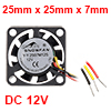 SNOWFAN Authorized 25mm x 25mm x 7mm 12V Brushless DC Cooling Fan #0406