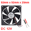 SNOWFAN Authorized 92mm x 92mm x 25mm 12V Brushless DC Cooling Fan #0408
