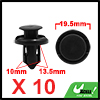 10pcs Black Universal Plastic Rivets Buckle for Car Auto 17x23MM
