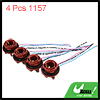 4pcs DC 12V 1157 Bulb Socket Wire Harness for Car Turn Signal Brake Light