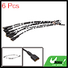 6pcs 150mm Long DC 12V Speaker Wire Female Terminal Connector for Car