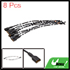 8pcs 150mm Long DC 12V Speaker Wire Female Terminal Connector for Cars