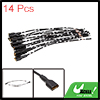14pcs 150mm Long DC 12V Speaker Wire Female Terminal Connector for Car