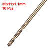 1.1mm Twist Drill High Speed Steel Bit HSS M35 5% Co 10pcs