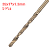 1.3mm Twist Drill High Speed Steel Bit HSS M35 5% Co 5pcs