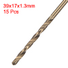 1.3mm Twist Drill High Speed Steel Bit HSS M35 5% Co 15pcs