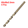 3.3mm Twist Drill High Speed Steel Bit HSS M35 5% Co 5pcs