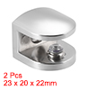 Glass Shelf Brackets Zinc Alloy Glass Clamp Clip for 8-10mm, Type-05, 2 Pcs